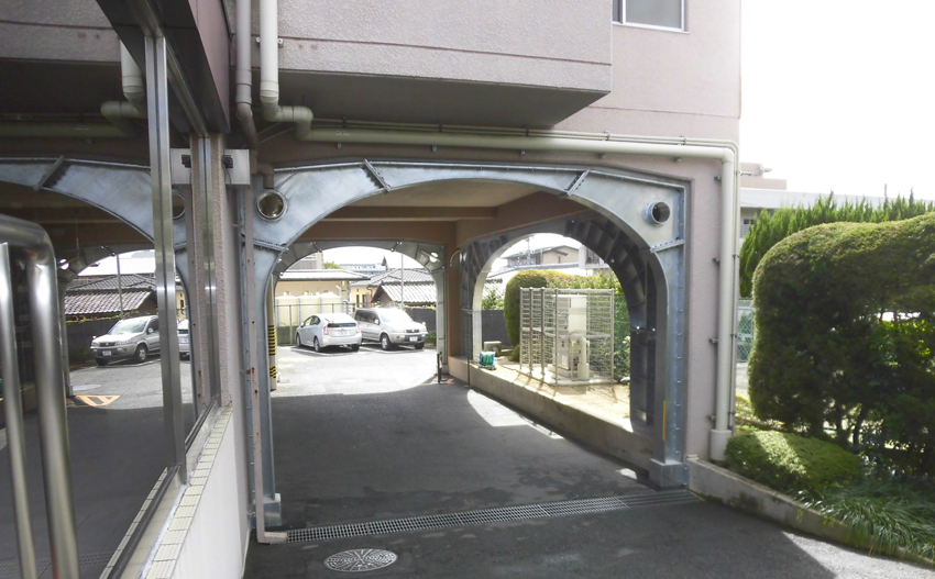 耐震補強鉄骨製作【アーチ型】